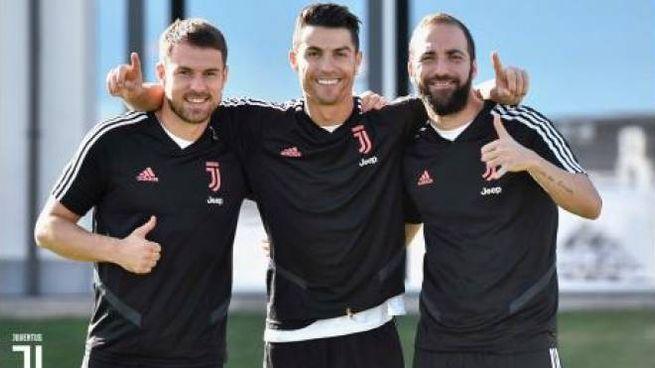 Ramsey, Ronaldo e Higuain alla Continassa