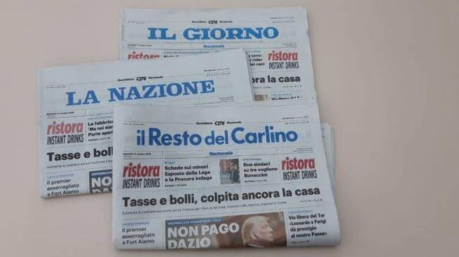 I giornali del gruppo Poligrafici Editoriale