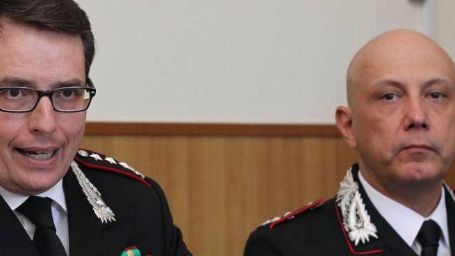 Il comandante Di Pace e il colonnello Tamponi