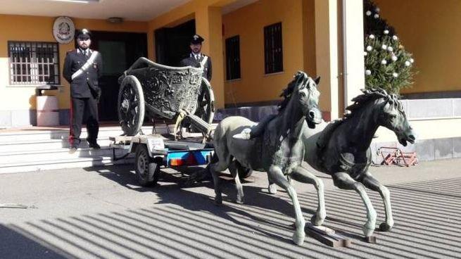 I carabinieri di Catania hanno ritrovato la 'Biga di Morgantina' (Dire)