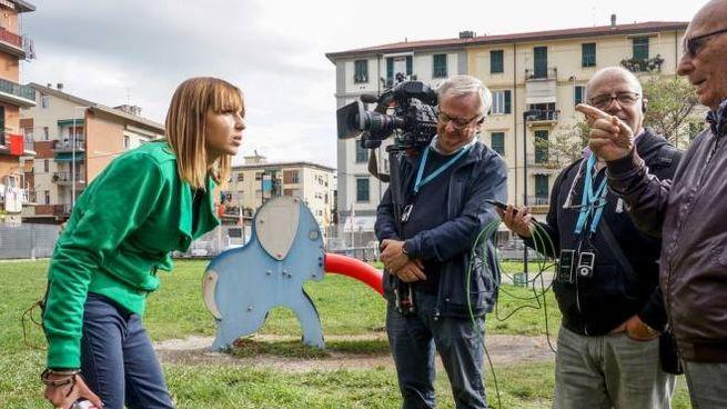 L'inviata Roberta Spinelli di  'Storie italiane' su Rai Uno