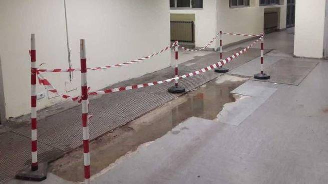 La foto di un corridoio al San Paolo diffusa da Gregorio Mammì