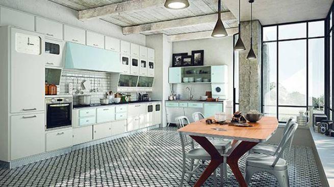 Una cucina anni \'50 per gli amanti del vintage - Magazine ...