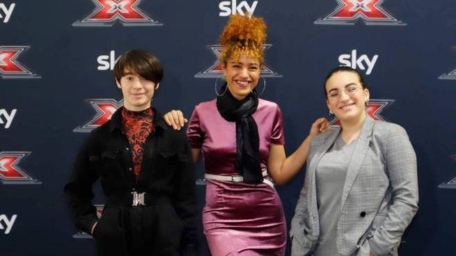 Al centro la bergamasca Mariam Rouass, prima eliminata di X Factor (