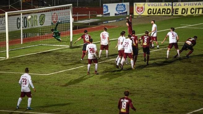 Il gol di De Cenco (foto Lotti/Germogli)