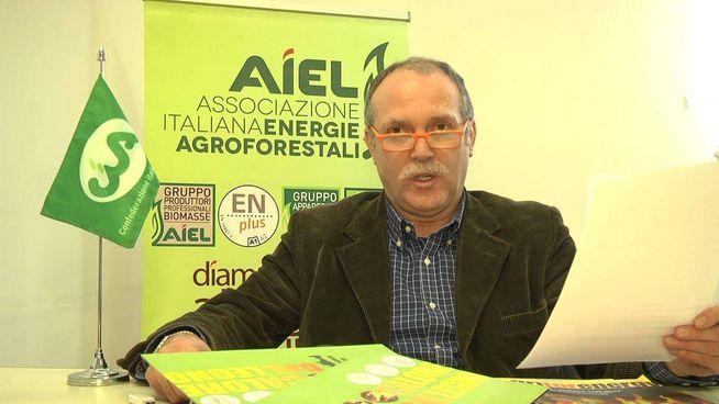 Marino Berton è il coordinatore dell'Associazione italiana energie agroforestali (Aiel)