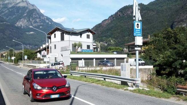 Autovelox in via Volta a Chiavenna
