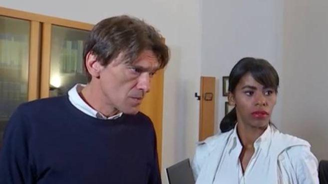 Il figlio di Simonetta Gaggioli e la compagna ai microfoni del Tg3