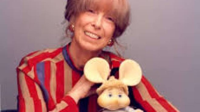 Maria Perego con Topo Gigio