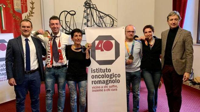 I protagonisti della corsa in Comune a Rimini