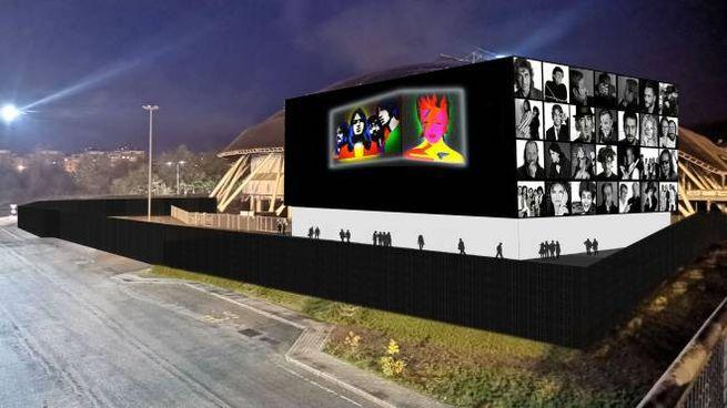 Bologna, il rendering dell'Unipol Arena