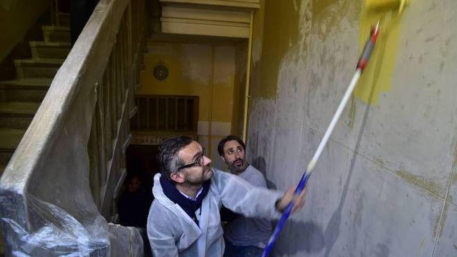 Lorenteggio, cleaning day degli stabili Aler: presente anche l'assessore Stefano Bolognini