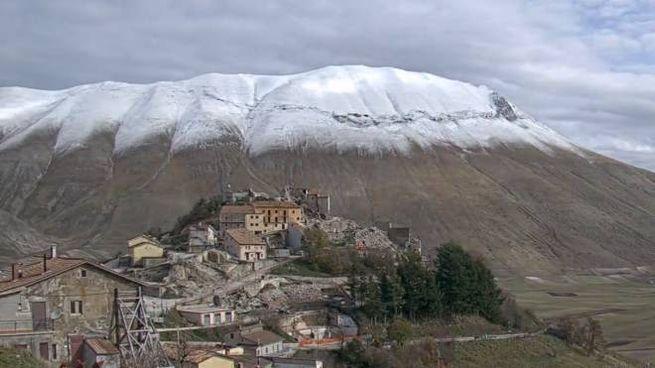 Castelluccio di Norcia, immagine della webcam