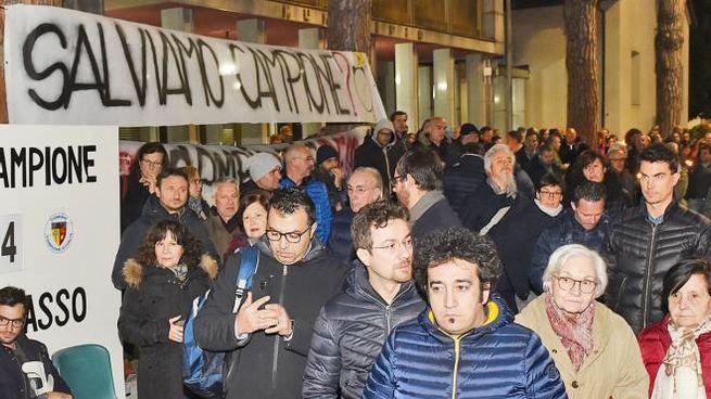 Manifestazione ex dipendenti del Casinò di Campione
