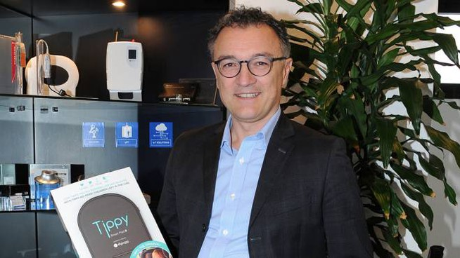 Digicom, l'amministratore delegato Riccardo Pedroni con Tippy