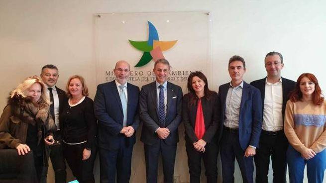 I parlamentari bresciani a Roma con il titolare del ministero dell'Ambiente Sergio Costa
