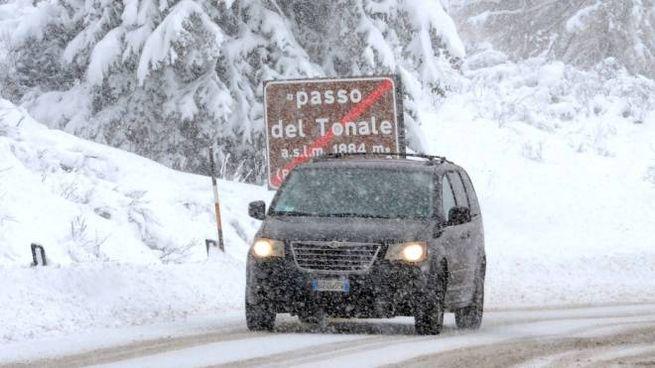 Neve al Passo del Tonale in una foto d'archivio (La Presse)