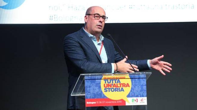 Zingaretti a Bologna per 'Tutta un'altra storia' (FotoSchicchi)