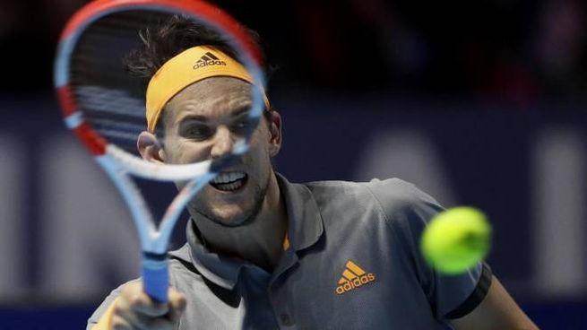 Dominic Thiem in finale agli Atp Finals di Londra (Ansa)