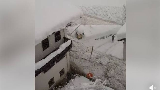 La Valanga in Val Martello: screenshot del video su Facebook
