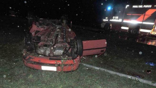 Il luogo dell'incidente in provincia di Udine (Ansa)