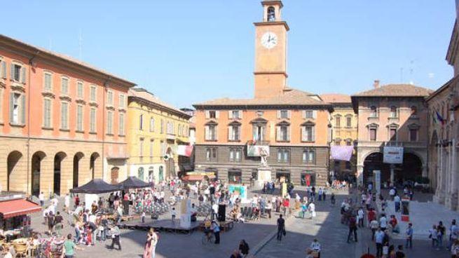 Reggio Emilia, Piazza Prampolini vista dall'alto