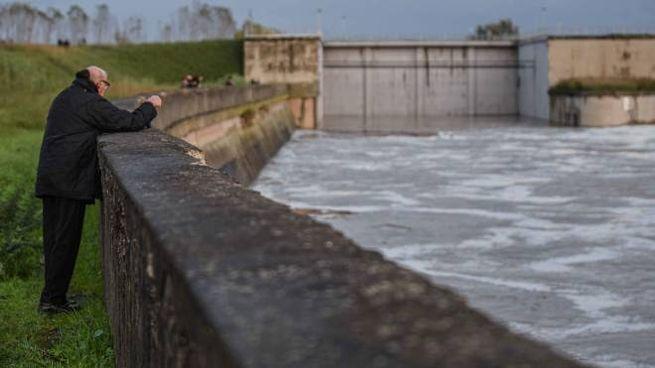 Lo Scolmatore di Pontedera ha evitato che l'Arno facesse danni a Pisa (Lotti/Germogli)