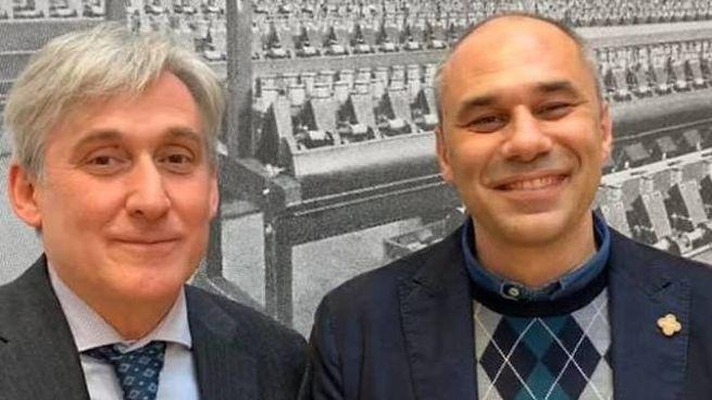 Massimo Marsili insieme al sindaco di Cernusco, Ermanno Zacchetti