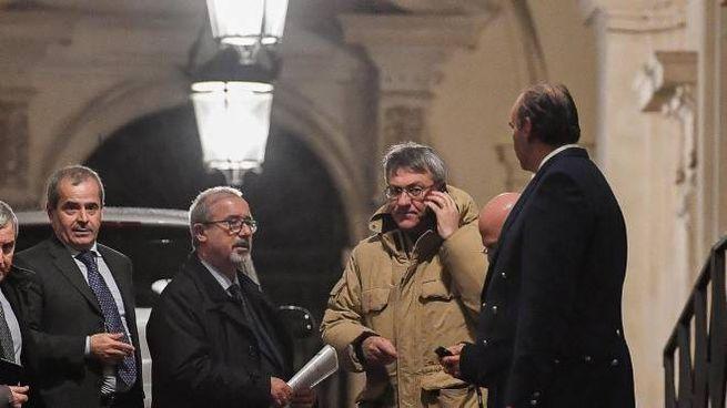 Il segretario generale della CGIL Maurizio Landini e quello della UIL Carmelo Barbagallo