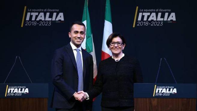 Elisabetta Trenta con Luigi Di Maio (ImagoE)