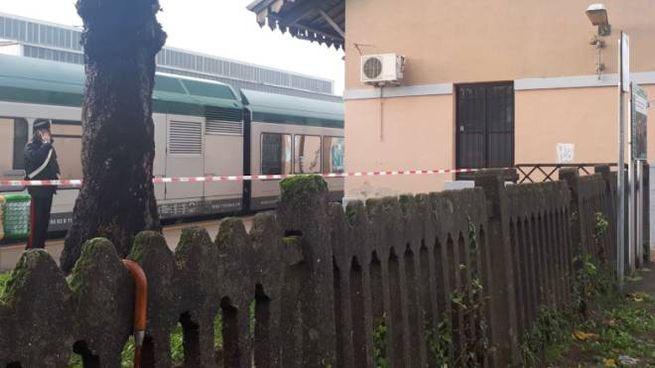 La stazione di Costa Masnaga chiusa dopo l'incidente