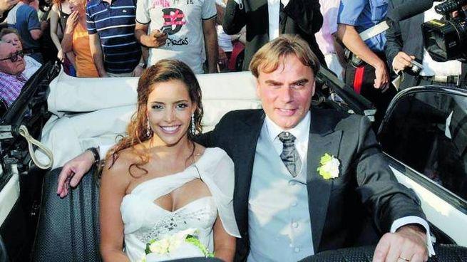 Andrea Griminelli nel giorno delle nozze con Rossana Redondo nel 2008