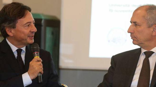 Lodovico Camonzzi, presidente e ad dell'omonimo gruppo, con il rettore Maurizio Tira