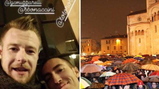 C'era anche Zaytsev tra le 'Sardine' di Modena (FotoFiocchi)