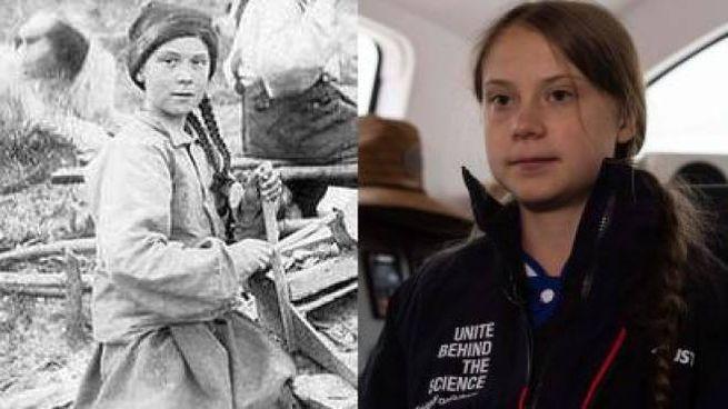 La somiglianza tra la giovane nella foto dell'università di Washington e Greta Thunberg