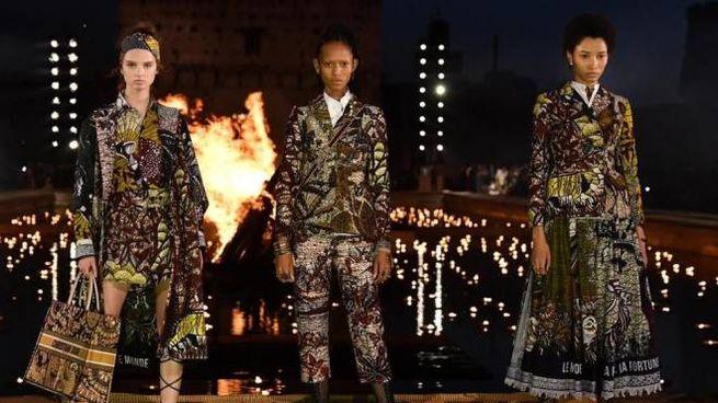 Uno dei momenti della Cruise collection Dior 2020 a Palazzo El Badi di Marrakesh