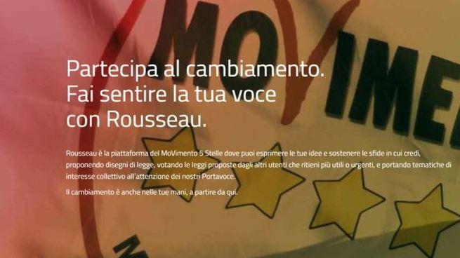 L'appello al voto sulla piattaforma Rousseau (Ansa)