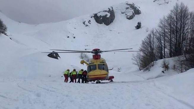 Morto sulla neve in Val di Luce