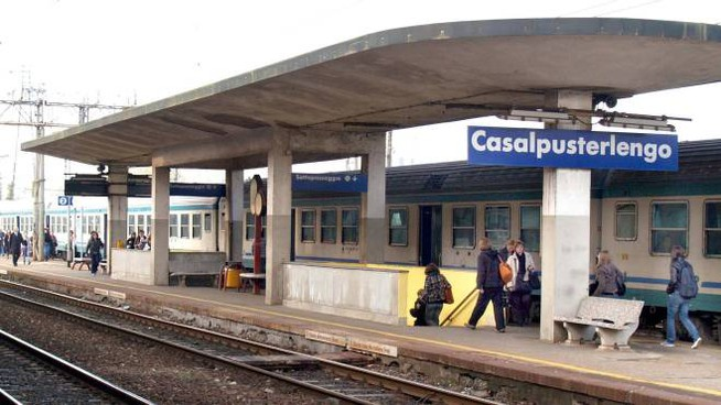 La stazione di Casalpusterlengo in una foto d'archivio