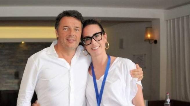 Giorgia Bellucci con Matteo Renzi