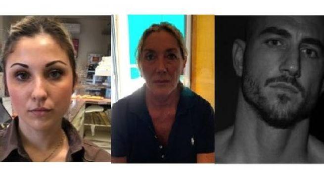 Da sin. Valentina Caturelli, Rita Palange e Leonardo Blanchard