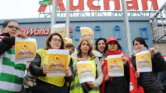 Uno sciopero di Auchan