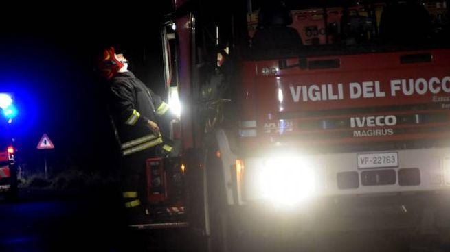 L'intervento dei pompieri