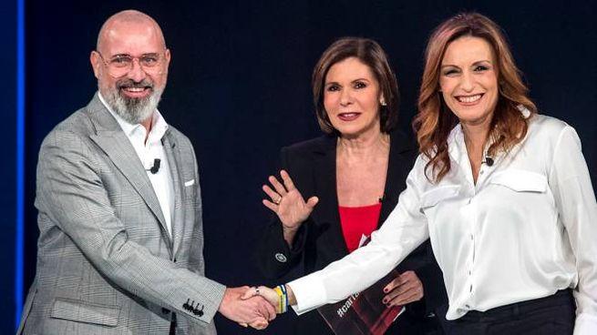 Stefano Bonaccini, 52 anni, e Lucia Borgonzoni, 43 anni, ospiti di Bianca Berlinguer