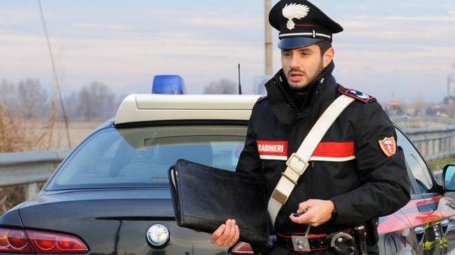 Sul posto i carabinieri (foto d'archivio)