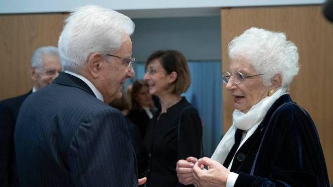Liliana Segre con il presidente della Repubblica Sergio Mattarella
