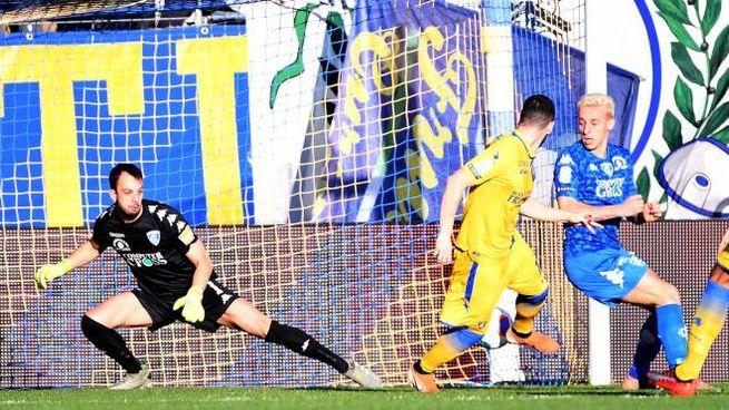 Il gol del vantaggio del Frosinone