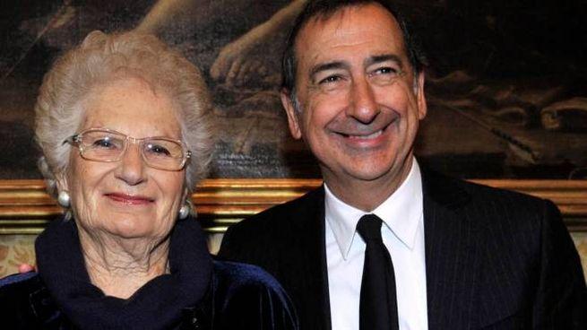 Liliana Segre e il sindaco Giuseppe Sala (Newpress)