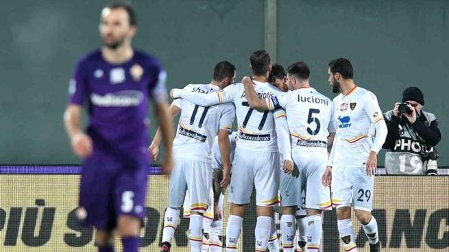 Il Lecce vince a Firenze grazie a un gol di La Mantia (LaPresse)