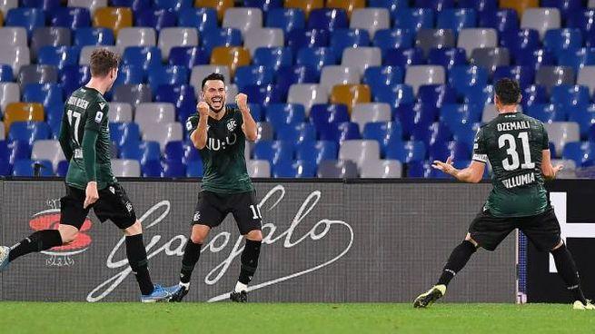 Il Bologna batte il Napoli al San Paolo (Lapresse)
